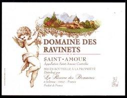 THEME PERSONNAGES étiquette De Vin SAINT AMOUR / ANGE - Cuori