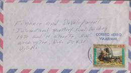 Honduras Commercial Cover, Army, Gun, Defense, Sent To USA - Honduras