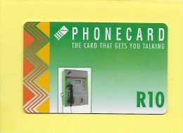 Télécarte  AFRIQUE DU SUD SOUTH AFRICA  R10 The Card That Gets You Talking - Afrique Du Sud