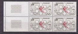 N° 1705 Jeux Olympique D´Hiver De Sapporo:: Un Bloc De 4  Timbres Neuf - France