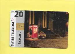 Télécarte  Suisse : Swiss Telecom Taxcard CHF 20 : Cabin Téléphonique 1997 - Suisse