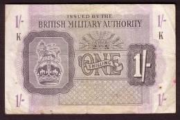 Billet - GRANDE BRETAGNE - Military Authority - 1 Shilling  De 1943 -  Pick M 2 - Autorità Militare Britannica
