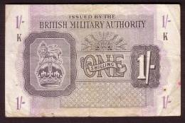 Billet - GRANDE BRETAGNE - Military Authority - 1 Shilling  De 1943 -  Pick M 2 - British Military Authority
