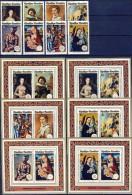 #H532. Ruanda 1974. Paintings. Michel 641-48 + blocs 40-45. MNH(**)