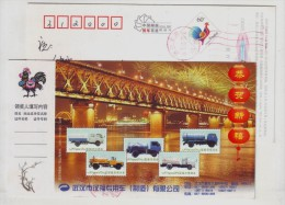 Wuhan Changjiang River Double Deck Railway-highway Combined Bridge,CN 05 Hanfu Special Truck Advert Pre-stamped Card - Trucks