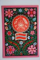 UZBEKISTAN  - Postcard The State Emblem And State Flag Of The Uzbek Soviet Socialist Rep - 1977 - Luxe Edition - Uzbekistan