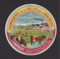 Etiquette De  Fromage  Camembert   -  Fouquet Marius  à  Luze ( 37 ) - Quesos