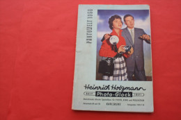 RARE PHOTOWELT 1958 CATALOGUE HEINRICH HOLZMAN PHOTO-GLOCK DEUTSCHLAND KINO/PROJECTION KAMERA ZEISS BRAUN ICON AGFA IKON - Fotoapparate