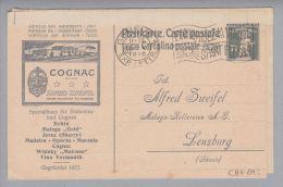 Motiv Alkohol Suchtmittel Cognac Albert Zweifel 1919-05-16 Privatzudruck A.Ganzs.7,5Rp - Vins & Alcools