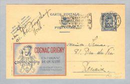 Motiv Alkohol Cognac 1941-11-09 Belgien Bild-Ganzsache - Vins & Alcools