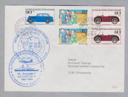 Motiv Antarktis 1984-04-06 Georg-von-Neumayer-Stat.Polarstern Brief 2 - Navires & Brise-glace