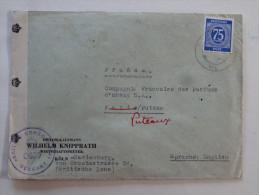 Cachet Censure Zone Britannique  Sur Lettre 75p  Pour Puteaux Parfums Dorsay 1947 - American/British Zone