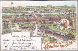 MOTIV AUSTELLUNGEN Souvenir Expo Nationale Suisse 1896-07-25 Genève - Expositions