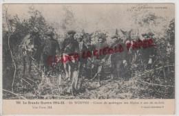 MILITARIA GUERRE 1914-1918-  EN WOEVRE - CANON DE MONTAGNE DES ALPINS A DOS DE MULETS -1916 - Guerre 1914-18