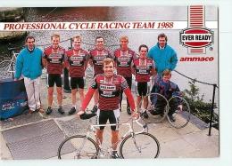 Equipe EVER READY AMMACO 1988. Carte De Groupe : Tony Doyle, Walshaw, Coltman, Bayton, Miller, Joughin. Cyclisme - Ciclismo