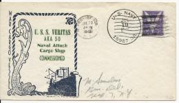 USA - 1945 - ENVELOPPE Avec CACHET NAVAL Du U.S.S VERITAS - US NAVY - Postal History