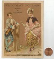 CHROMOS POULAIN - LES BERGERIES WATTEAU - LA RENCONTRE. - Poulain