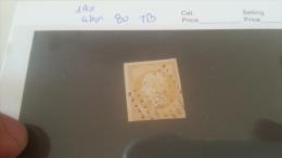 LOT 260016 TIMBRE DE FRANCE OBLITERE N�13Aa CITRON VALEUR 80 EUROS TB