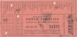 GENOVA  /   Autolinee S.A.T.I.  _   Biglietto Autobus