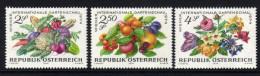 ÖSTERREICH 1974 ** Obst, Gemüse / Wiener Gartenschau - Kompletter Satz MNH - Landwirtschaft