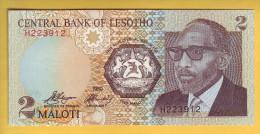 LESOTHO - Billet De 2 Maloti. 1989. Pick: 9a. NEUF - Lesotho