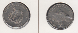 1984-MN-104 CUBA UNC  1984 1$ CU-NI KM144. MORRO CASTLE OF SANTIAGO. CASTILLO DEL MORRO SANTIAGO - Kuba