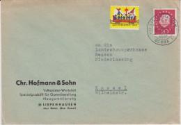 Bund Heuss Med Mi 304 PSt I Stempel Lispenhausen ü Bebra Bf 1959 - Briefe U. Dokumente