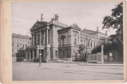 CDV Foto Kabinettfoto ? Hartpappe Prag Praha Neue Deutsche Theater Nove Nemecke Divadlo Tschechien Ceska Cesky Tchequie - Fotos
