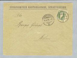Motiv Bank Geld 1893-01-12 Schaffhausen KB Stehende Zu#67C - Timbres