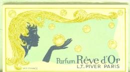 10 Cartelettes Parfum REVE D'OR - Perfume Cards