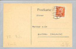Motiv Bank Geld 1928-02-13 Postkarte Perfin Vereinsbank Rastatt - Timbres