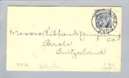 Motiv Bank Geld 1929-11-27 Brief Singapore > CH Perfin B.C. - Timbres