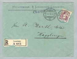 Motiv Bank Geld 1909-04-04 Brief Hypo&Sparkasse Lenzburg - Timbres