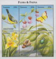 Tanzania.1999. Sheet.6v.Michel.3278-83.MNH.21379
