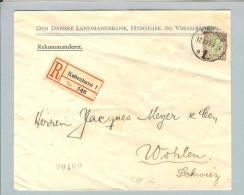 """Motiv Bank Geld Dänemark 1923 Perfin """"LB"""" Landesbank R-Bri. - Timbres"""