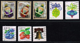 USA 1999/2004/09/11, Michel#  3110, 3111, 3883, 3884, 3386, 4128, 4581 + 4582 O - Used Stamps