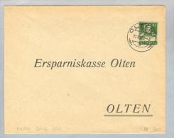 Motiv Bank Geld 1923-07-17 Olten Privat-Ganzsache - Timbres