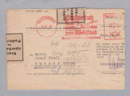 Motiv Bank Geld Sparbuch Frei-O Paderborn 1948-08-11 Kreissp - Timbres