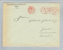Motiv Bank Geld 1932-02-02 SBV Basel Freistempel Oval #753 - Timbres