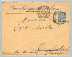 Motiv Bank Geld Perfin 1902-02-26 Brief Banca Commerciale It. - Timbres