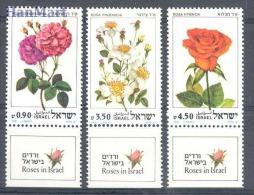 Israel 1981 Mi 864-866 MNH - roses
