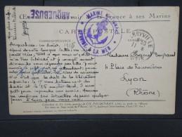 """FRANCE-Griffe Du Torpilleur D'Escadre """" Arquebuse"""" Sur Cp De Marine ( Peintre) 1916   A VOIR  LOT P 5461 - Postmark Collection (Covers)"""