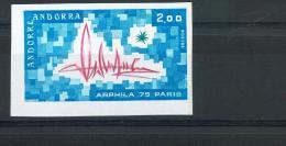 Andorre 248 Artphila 75 1/4 De Cote Non Dentelé NEUF ** TB MNH Sin Charnela  Cote 39 - Andorre Français