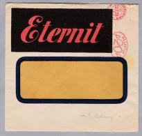Motiv Bau Bedachung Niederurnen 1929-10-10 Eternit Freistempel Mit Kron Auf Brief Mit Rechnung - Timbres