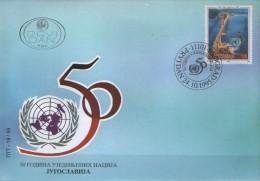 Yugoslavia, 1995, 50th Anniversary Of United Nations Organization, FDC - FDC