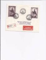 BELGIQUE - BELGIE 592A + 592B Sur Lettre - Op Brief EXPRESS Brussel 1  -  1942 - Blocs 1924-1960