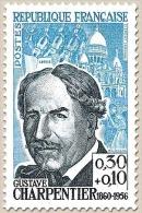 Célébrités. Gustave Charpentier 30c. + 10c. Bleu Et Bleu-noir Y1348 - Neufs