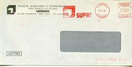 EMA Secap NA-26998 SUPAE-Societé Auxiliaire D'Entreprise SUPANORd,Lille,lettre Obliterée 91 Bievres,Essonne 15.6.84 - Unclassified