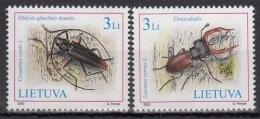 Litauen MiNr. 819/20 ** Das Rote Buch Gefährdeter Tier- Und Planzenarten: Käfer - Lithuania
