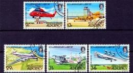 Alderney MiNr. 18/22 O, 50 Jahre Flughafen Von Alderney - Alderney